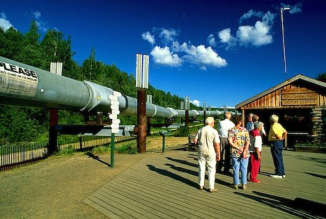Part of the Alaska oil pipeline