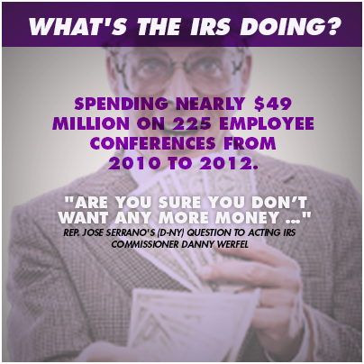 IRS knows how to spend, too...
