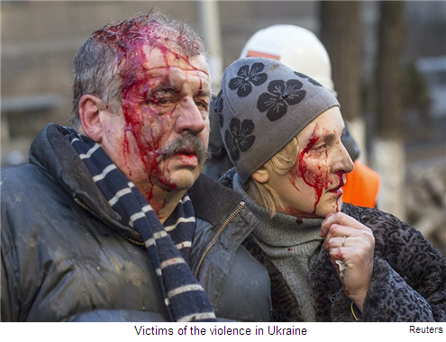 Ukrainians paying a heavy price...