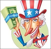 Uncle Sam has a voracious appetite for your money...