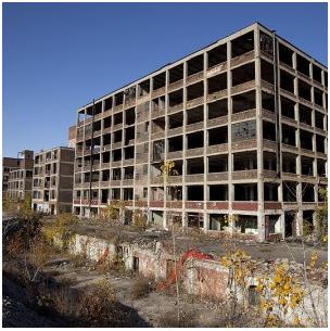 Detroit in ruins...