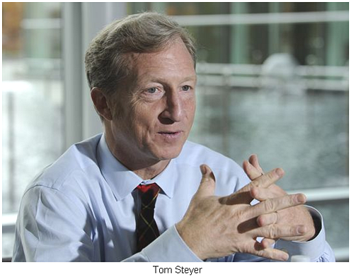 Tom Steyer blocks Keystone XL pipeline...