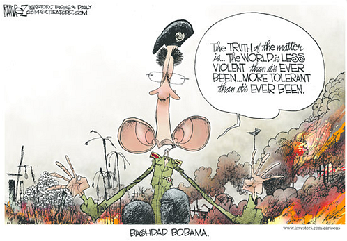 Obama's rose-colored glasses...