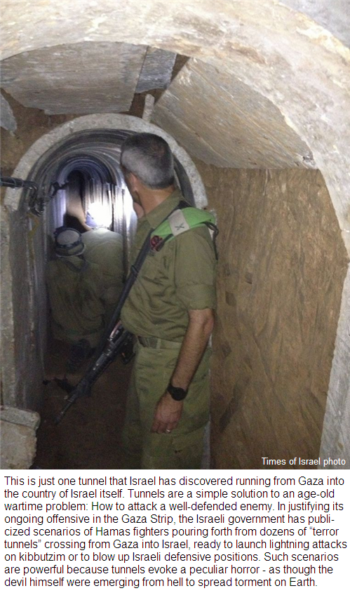 Hamas terrorists threaten Israel with tunnels