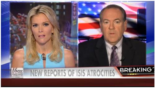 Mike Huckabee on Fox News...