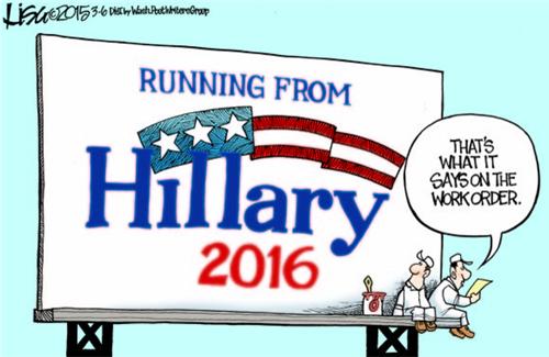 Running from Hillary...