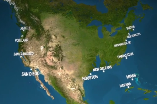 What will a flooded USA look like?