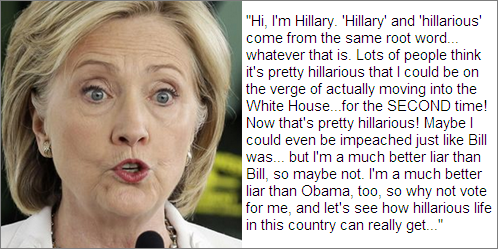 Hillary and hillarious...
