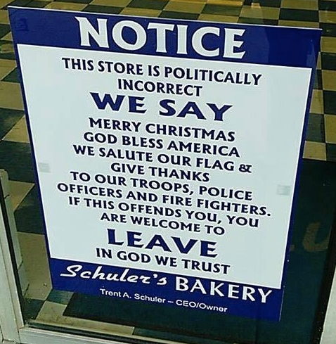 Ohio bakery tells it like it is...