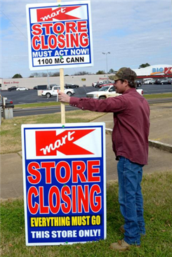 Stores closing all over USA