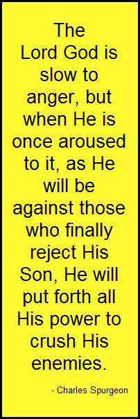 God's righteous anger is still to come...