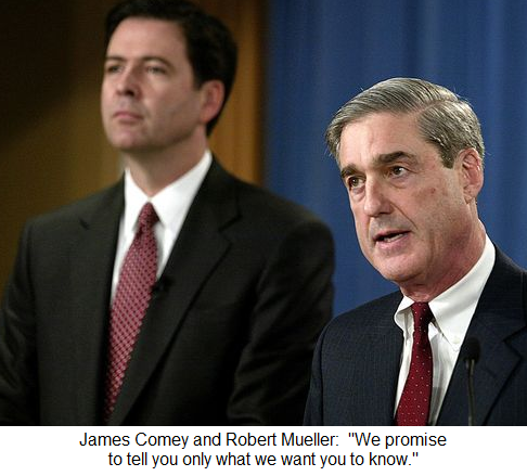 Comey and Mueller both completely corrupt