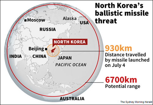 North Korea's growing missle reach...