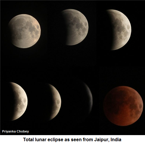 Blood moon eclipse from Jaipur, India