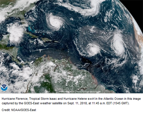 Not one, not two, but three Atlantic hurricanes