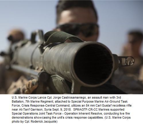 Show of force in Syria by US Marines