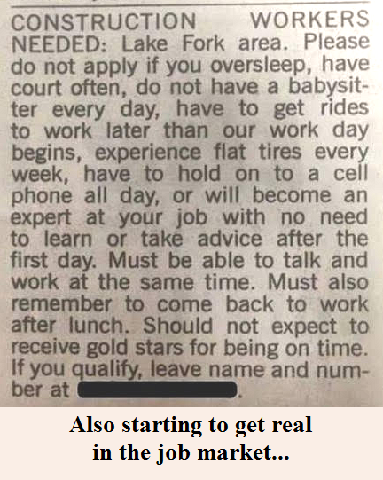 Getting real about the job market...