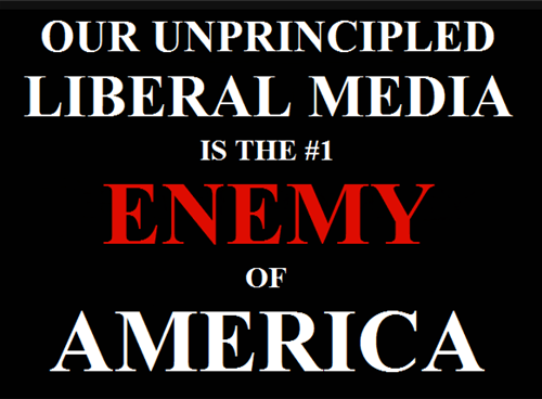 Liberal media now top enemy of America