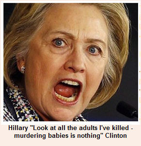 Hillary still likes to kill people