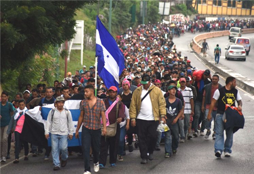 Thousands of migrants headed for US southern border