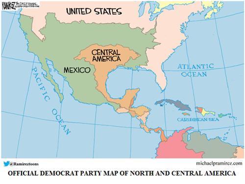 Official Democrat US map