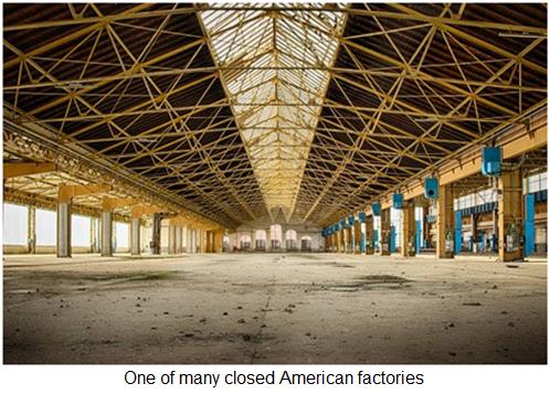 American factories still closing