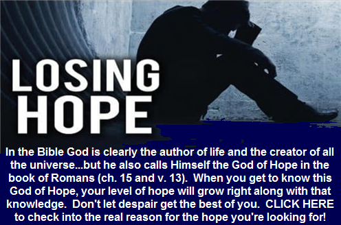 Losing hope: There is a remedy that works
